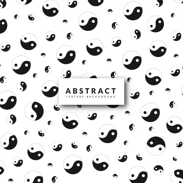 Yin and yang pattern background Free Vector