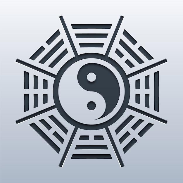 Yin yang symbol Premium Vector