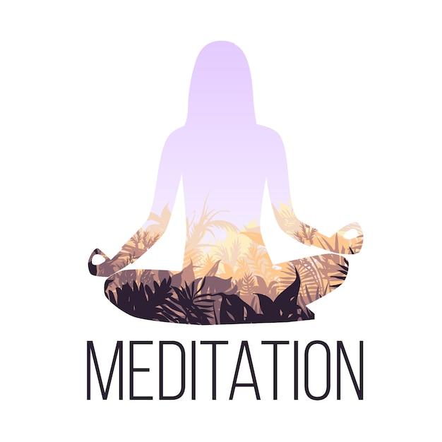 Concetto di equilibrio yoga Vettore gratuito