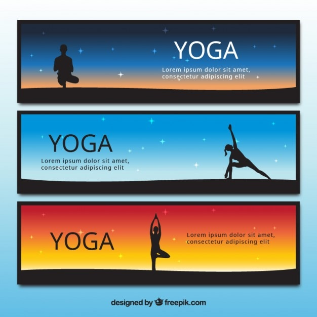 Yoga Banner Set Stock Images Page Everypixel