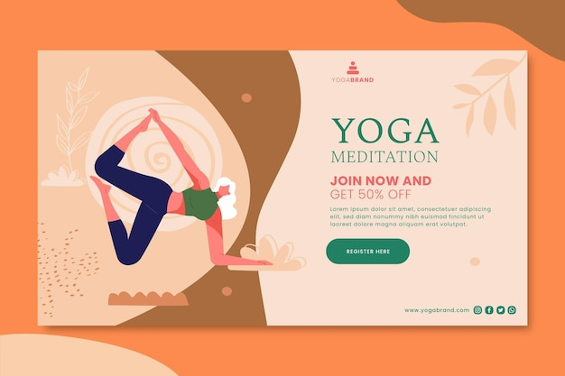 Yoga banner template Free Vector