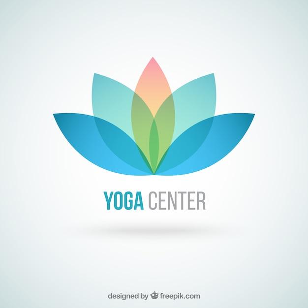 Yoga center logo Premium Vector