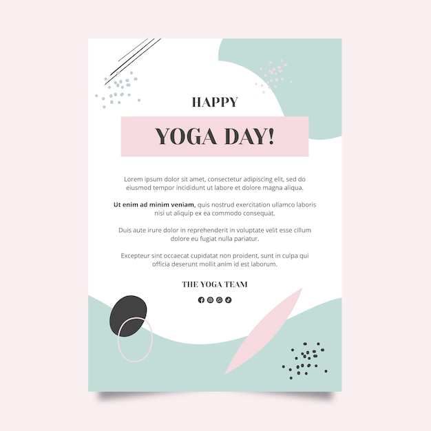 Yoga class poster template Free Vector