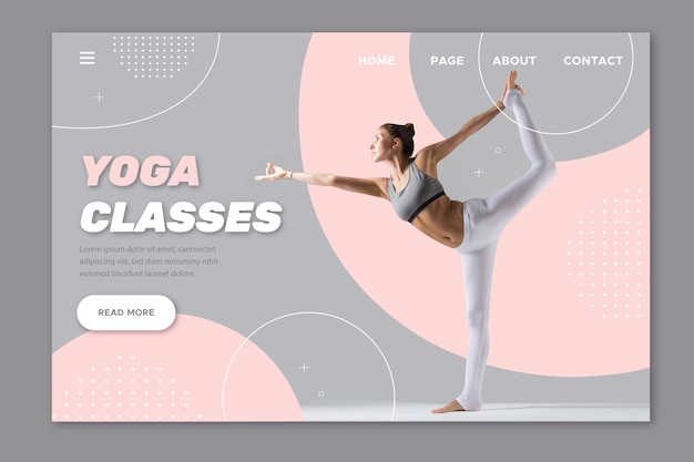 Yoga classes sport landing page Free Vector