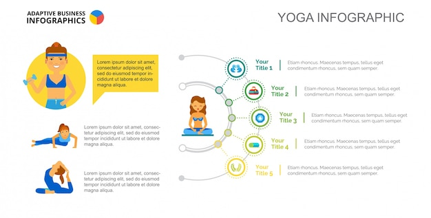 Yoga Concept Chart Slide Template