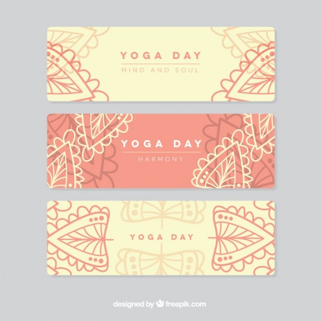 Yoga day banners