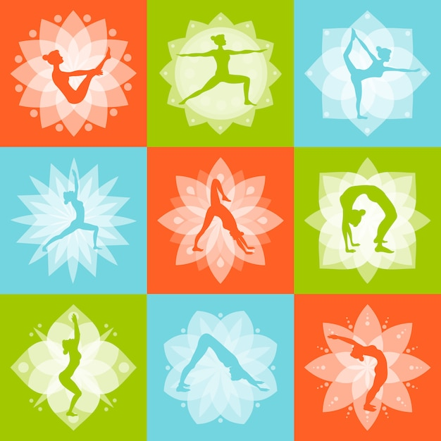Yoga design concept Free Vector