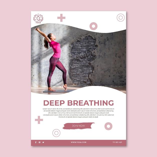 Volantino yoga verticale Vettore gratuito