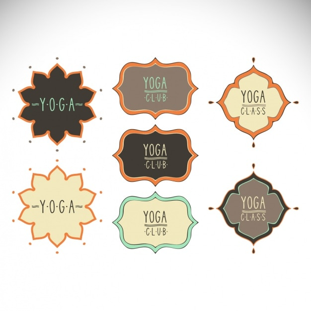 Yoga labels collection