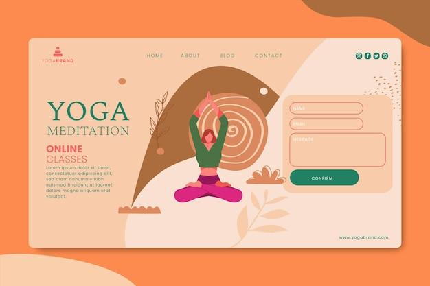Pagina di destinazione dello yoga Vettore gratuito
