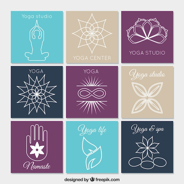 Yoga Logo Vectors, Photos and PSD files | Free Download