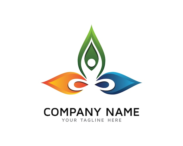 Yoga Logo Design Premium Vector