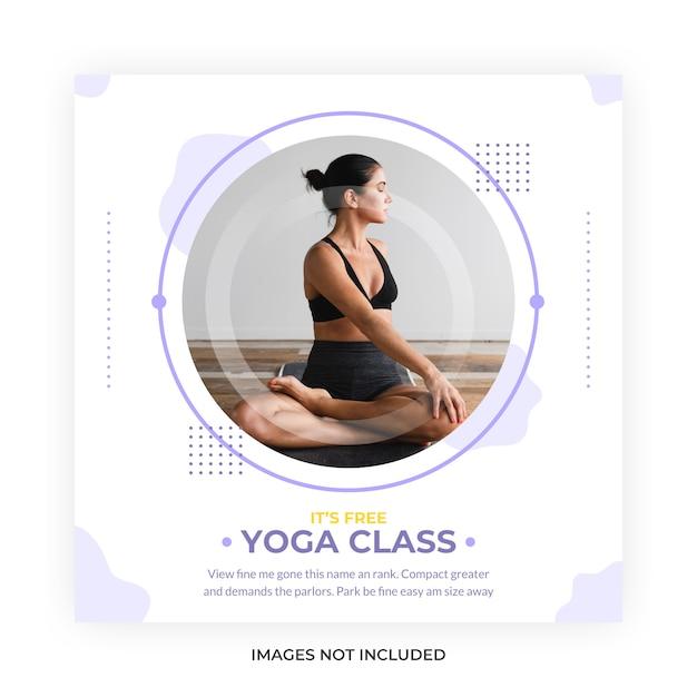 Yoga meditation class social media post Premium Vector