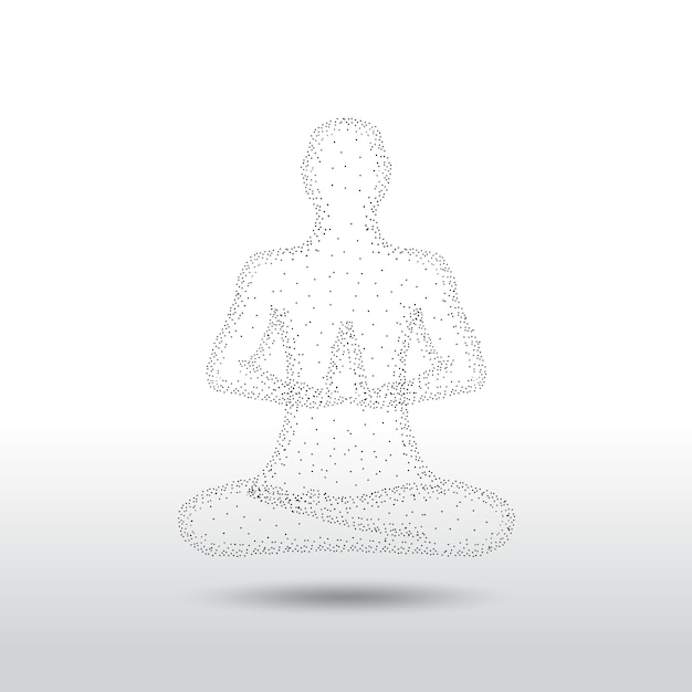 Yoga Meditation Pose Premium Vector