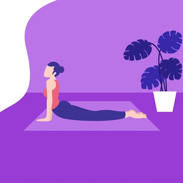 Yoga pose Premium Vector