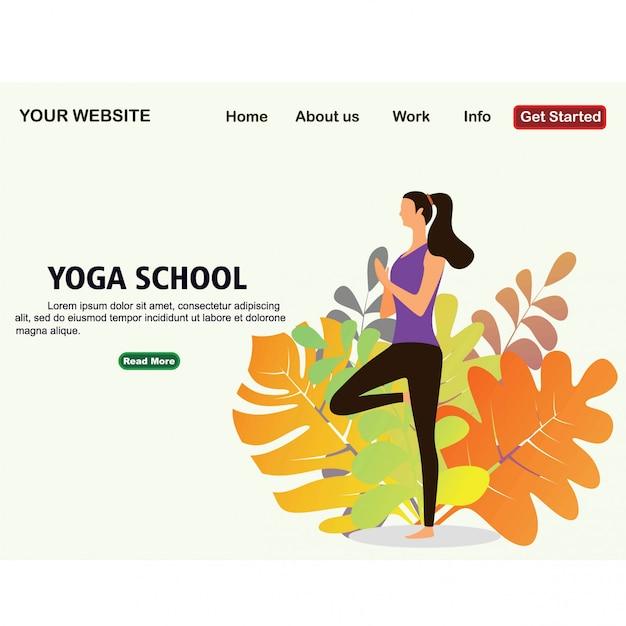 Yoga school studio. Premium Vector