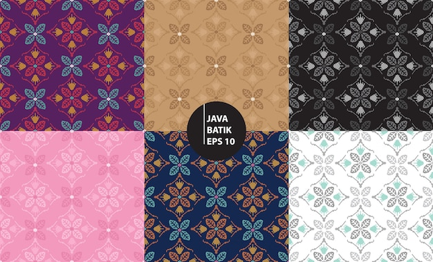 Yogyakarta java indonesia traditional batik heritage seamless pattern background Premium Vector
