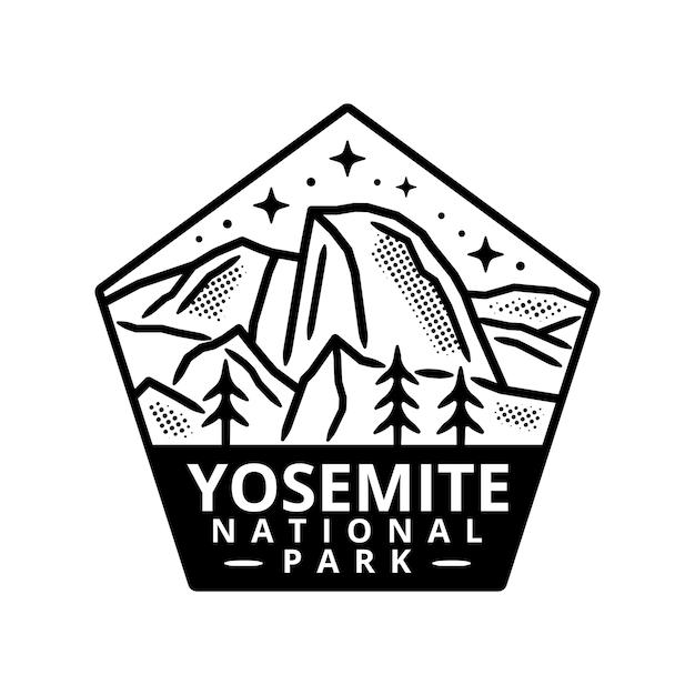 Yosemite national park sticker Premium Vector
