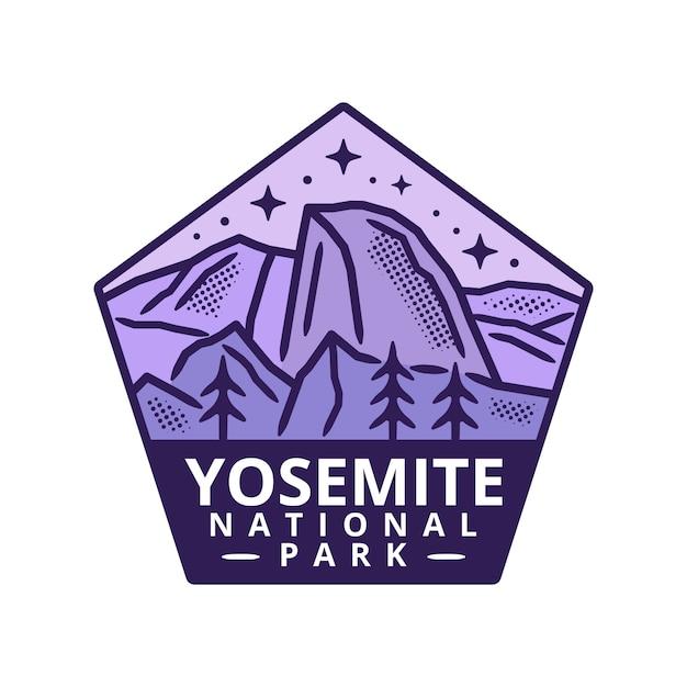 ヨセミテ国立公園ステッカー Premiumベクター