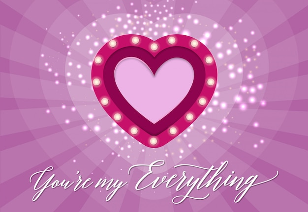 You Are My Everything Lettering With Heart Vector Premium Download