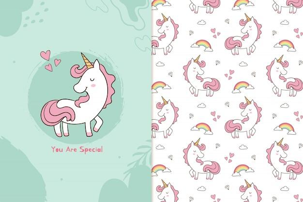 You are special unicorn pattern Premium Vector