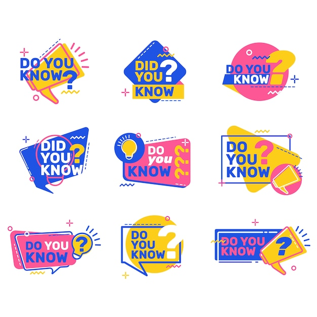 Do you know questions set Free Vector