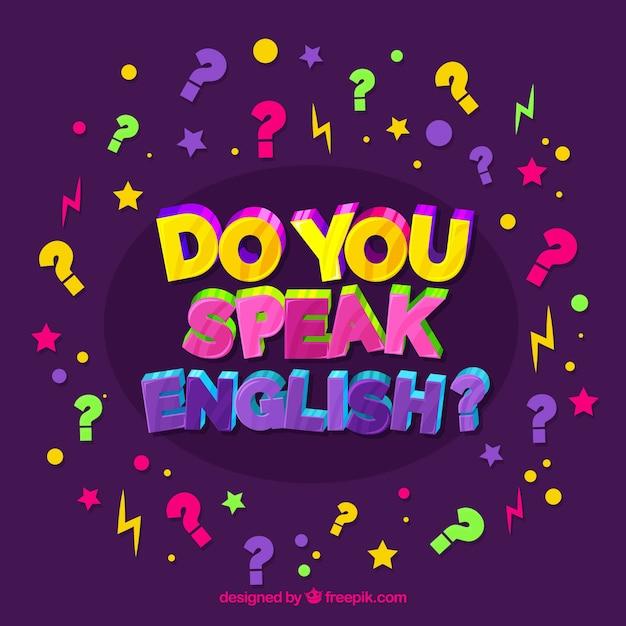 Do you speak english background Free Vector