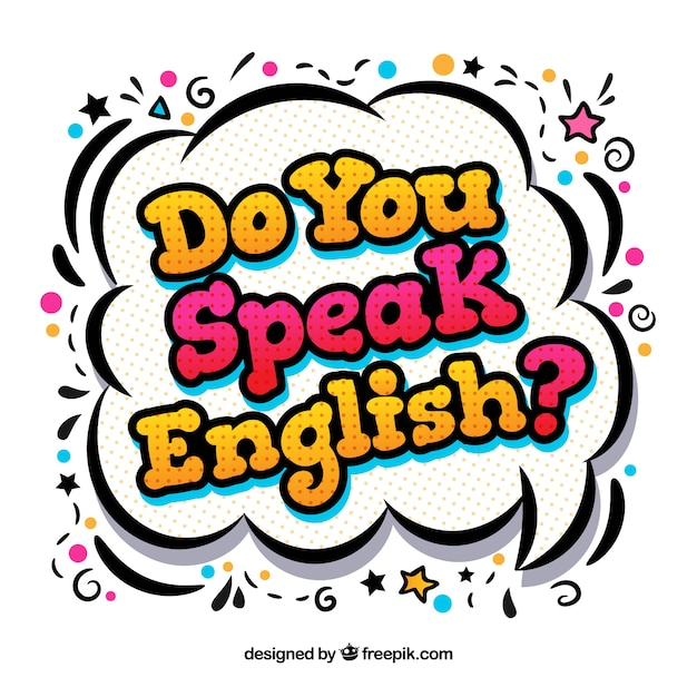 Do you speak english background Free Vector