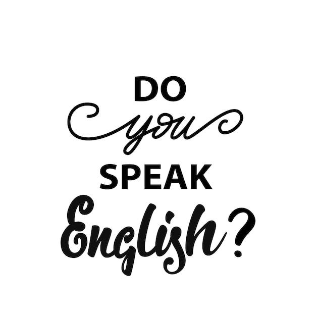 Do you speak english? banner Premium Vector