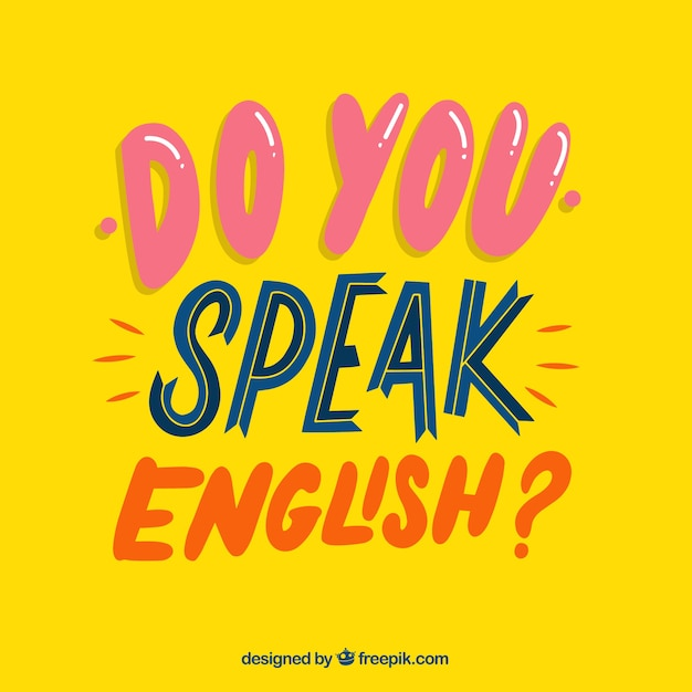 Do you speak english question with flat design Free Vector