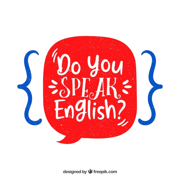 Do you speak english question with hand drawn style Free Vector