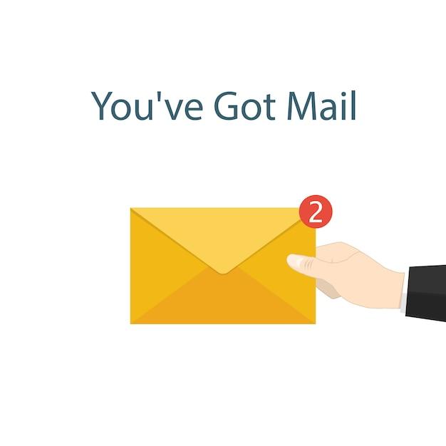 Premium Vector You Ve Got Mail