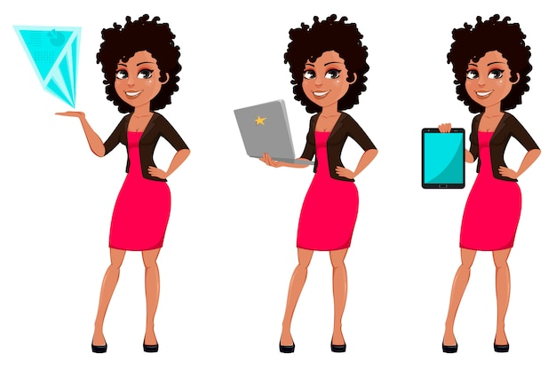 Young african american business woman Premium Vector