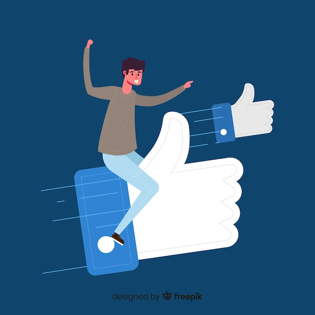 Young boy with thumb like symbol Free Vector