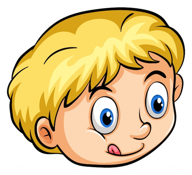 A young boy Free Vector