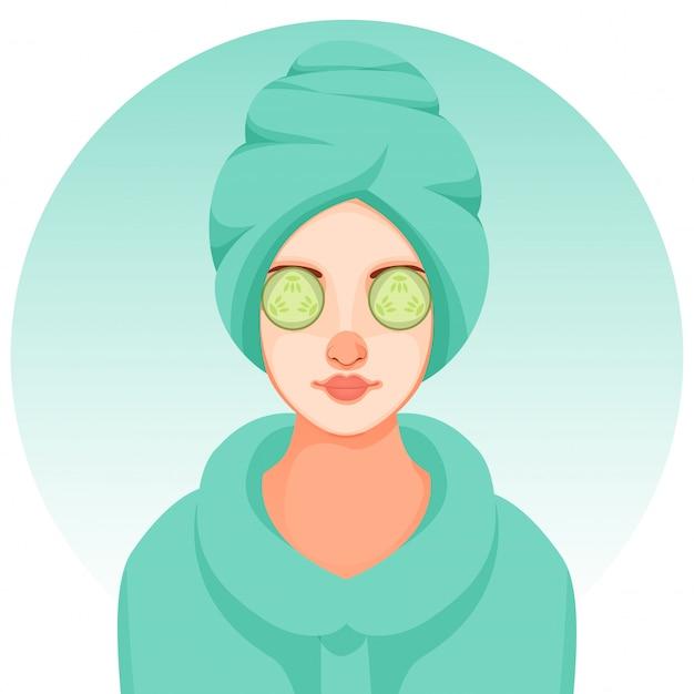 Salon Spa Health Beauty Facial Mask Giant Wall Art Poster Print