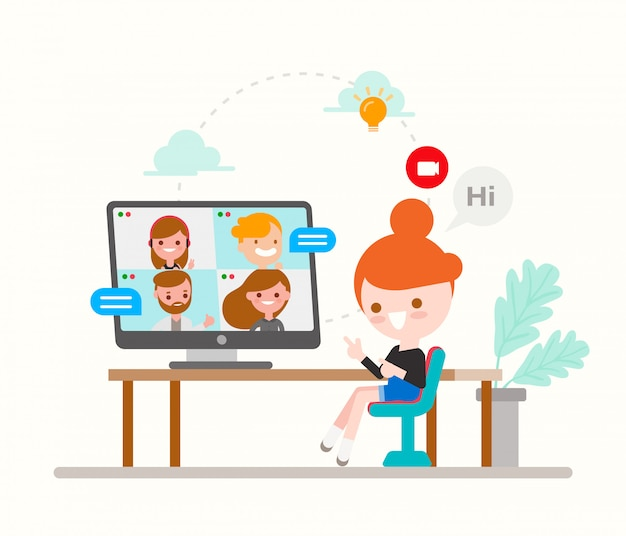 Girl And Boy Chatting In Phone - Download Free Vectors, Clipart Graphics &  Vector Art