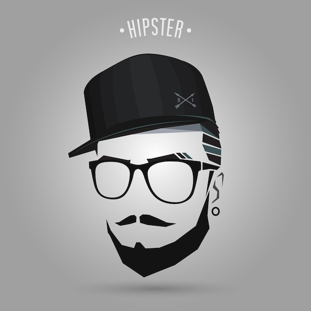 Young hipster cap Vector  4b03f0dcf97