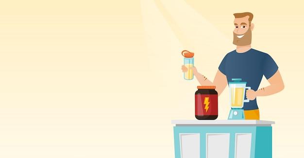 Как принимать изолят соевого или сывороточного протеин белка - смешать и употреблять его с помощью блендера