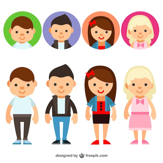 Young people avatars