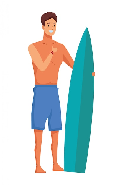 Young people and summer cartoons Premium Vector