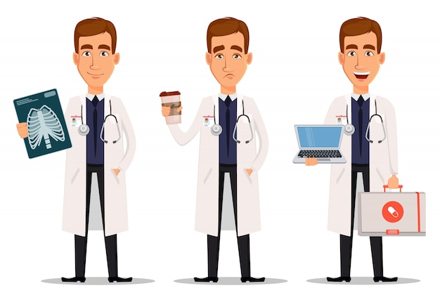 Young professional doctor Premium Vector