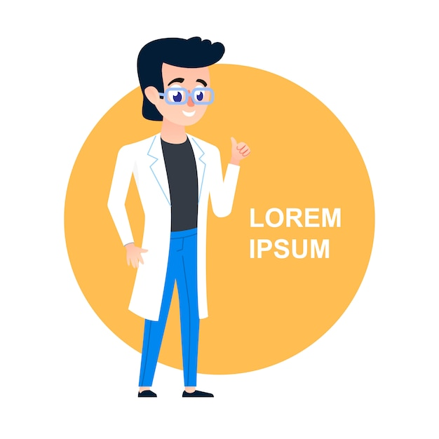 Young scientist person Premium Vector