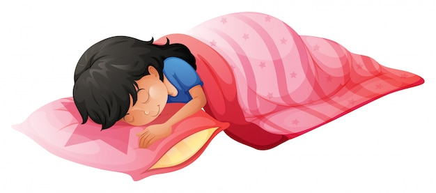 A young woman sleeping Free Vector