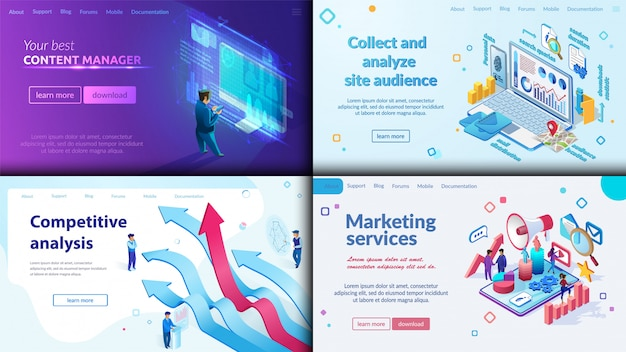 Your best content manager, marketing service. Premium Vector