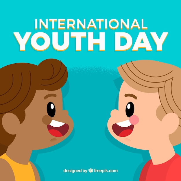 Youth day background of cute children