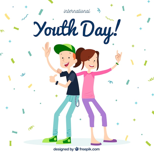 Youth day background Free Vector