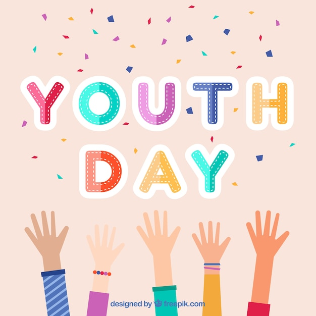 Youth Day Celebration Background Vector