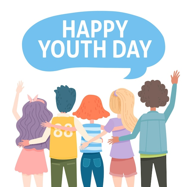 Youth day event Free Vector