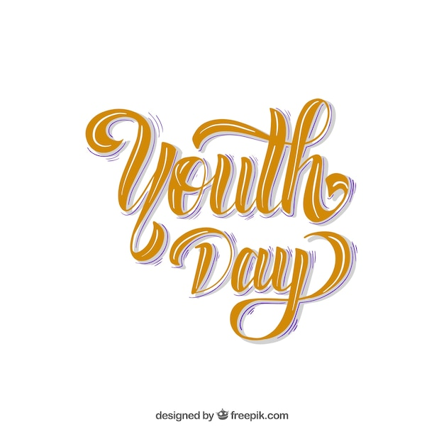 Youth day lettering retro background